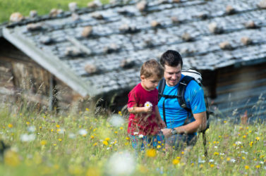 Hiking with children on the Alpe di Siusi