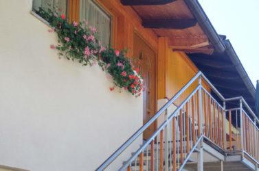 Entrata dell'appartamento Ovest 2 al maso Koflerhof