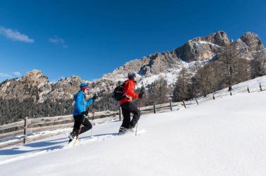 Schneeschuhwandern in Südtirols Winterlandschaft