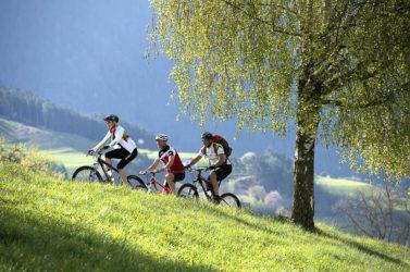 Col mountainbike sulll'Alpe di Siusi